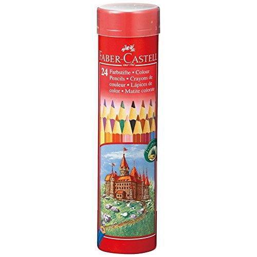 油性色鉛筆 丸缶 24色セット TFC-CPK/24C