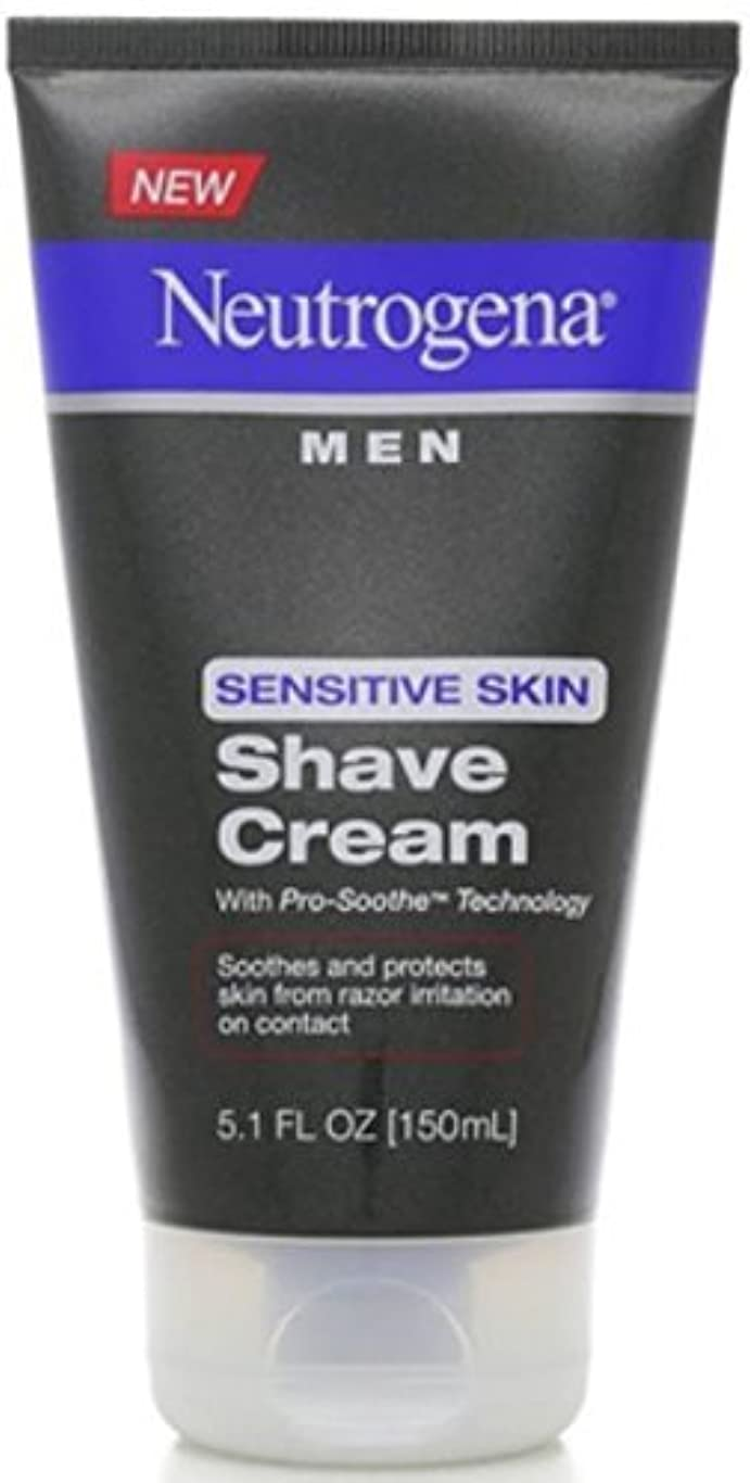 洞察力のある覚醒実業家Neutrogena Men Sensitive Skin Shave Cream - 5.1 oz [並行輸入品]