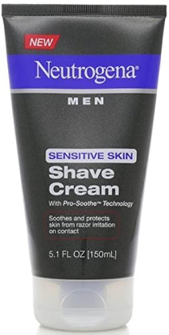 Neutrogena Men Sensitive Skin Shave Cream - 5.1 oz [並行輸入品]