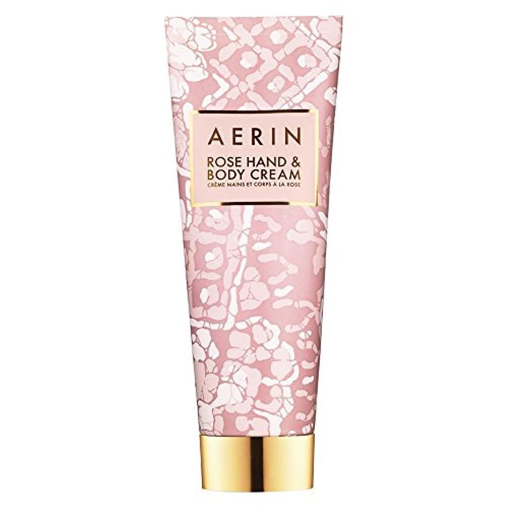 符号特別な怒りAerinはハンド&ボディクリーム125ミリリットルをバラ (AERIN) (x6) - AERIN Rose Hand & Body Cream 125ml (Pack of 6) [並行輸入品]