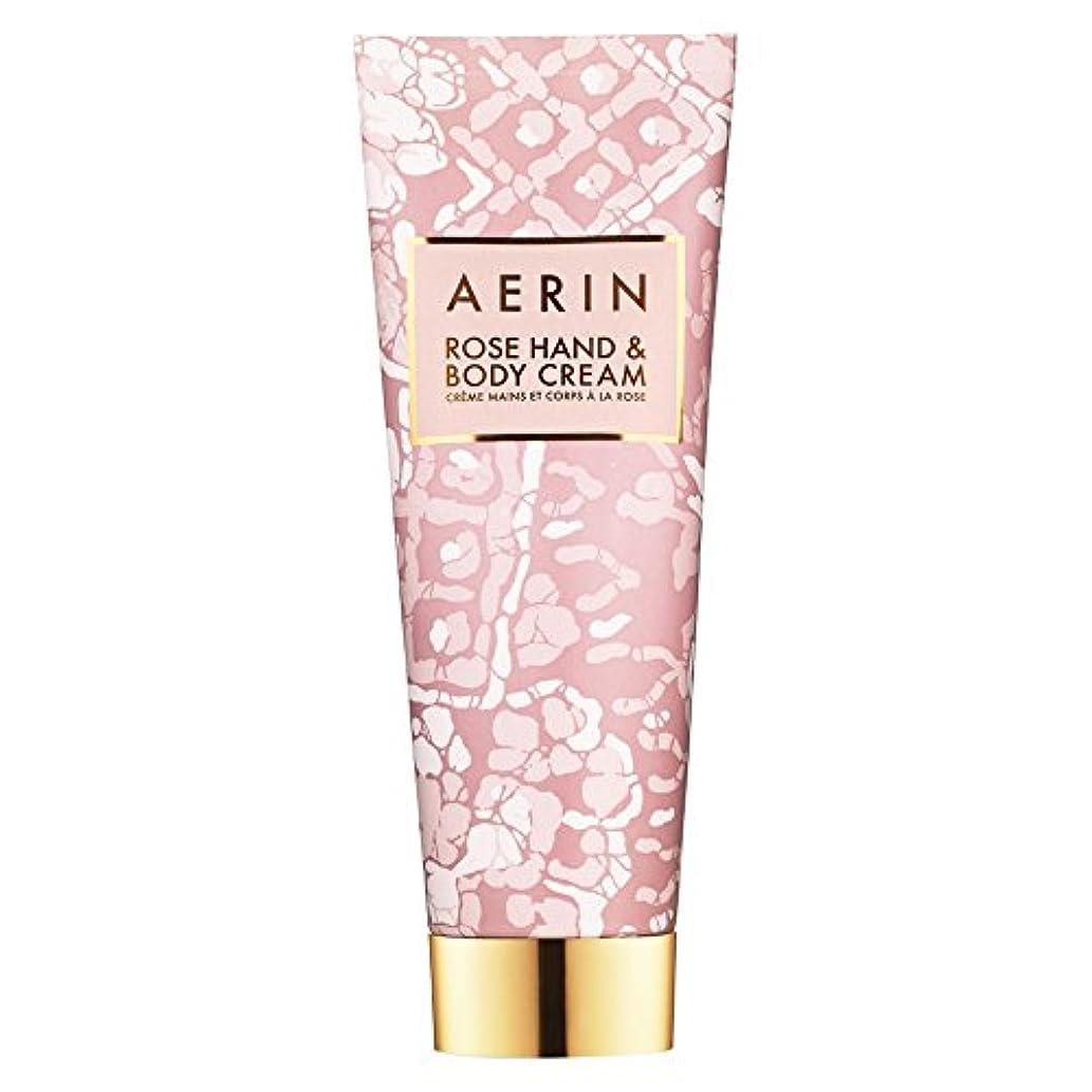 データム背骨好きであるAerinはハンド&ボディクリーム125ミリリットルをバラ (AERIN) (x6) - AERIN Rose Hand & Body Cream 125ml (Pack of 6) [並行輸入品]