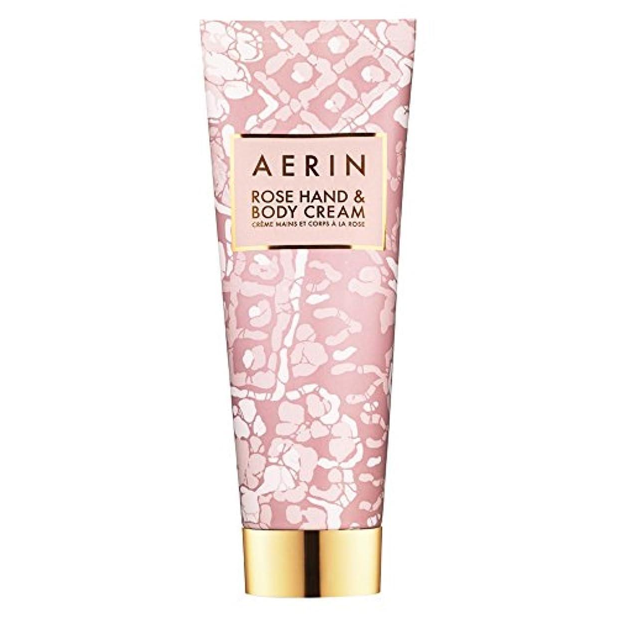 レルムセーブ影響を受けやすいですAerinはハンド&ボディクリーム125ミリリットルをバラ (AERIN) (x6) - AERIN Rose Hand & Body Cream 125ml (Pack of 6) [並行輸入品]