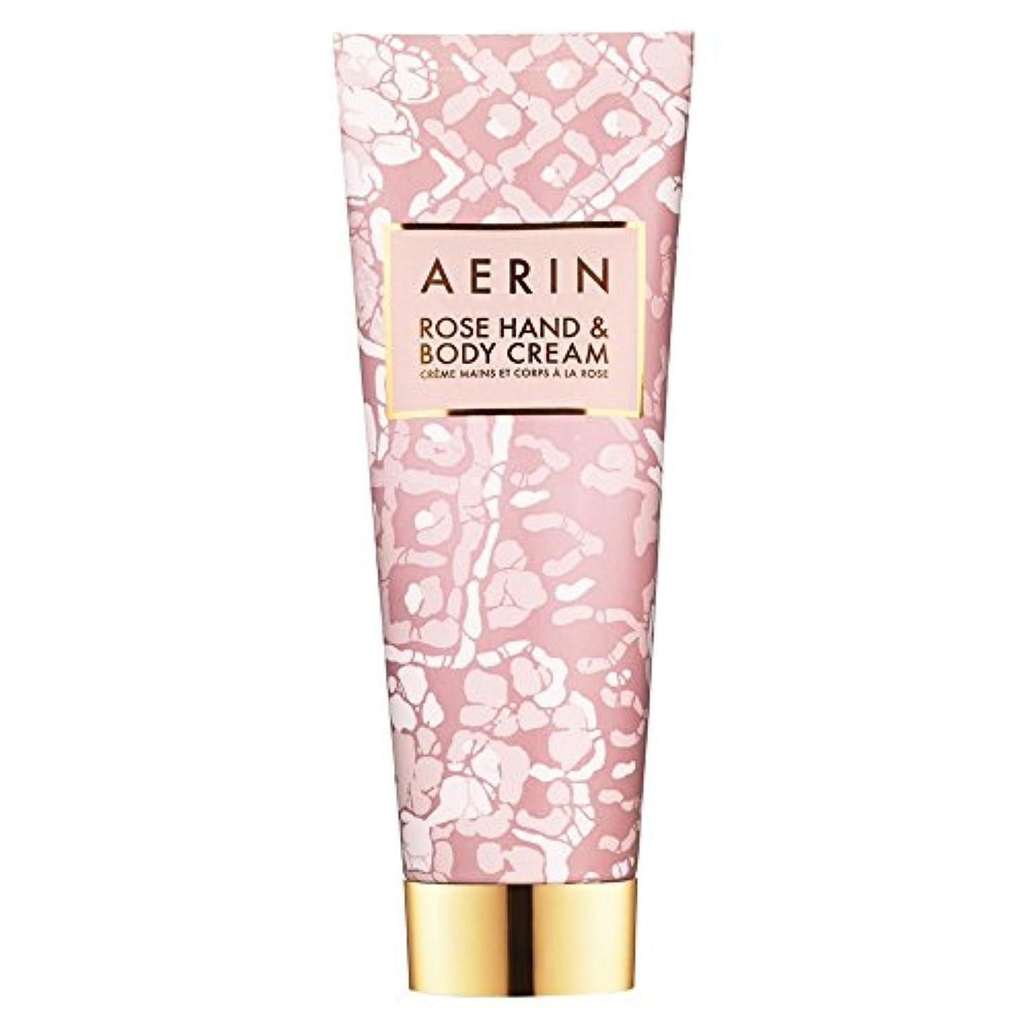メタリック最少作業Aerinはハンド&ボディクリーム125ミリリットルをバラ (AERIN) (x6) - AERIN Rose Hand & Body Cream 125ml (Pack of 6) [並行輸入品]