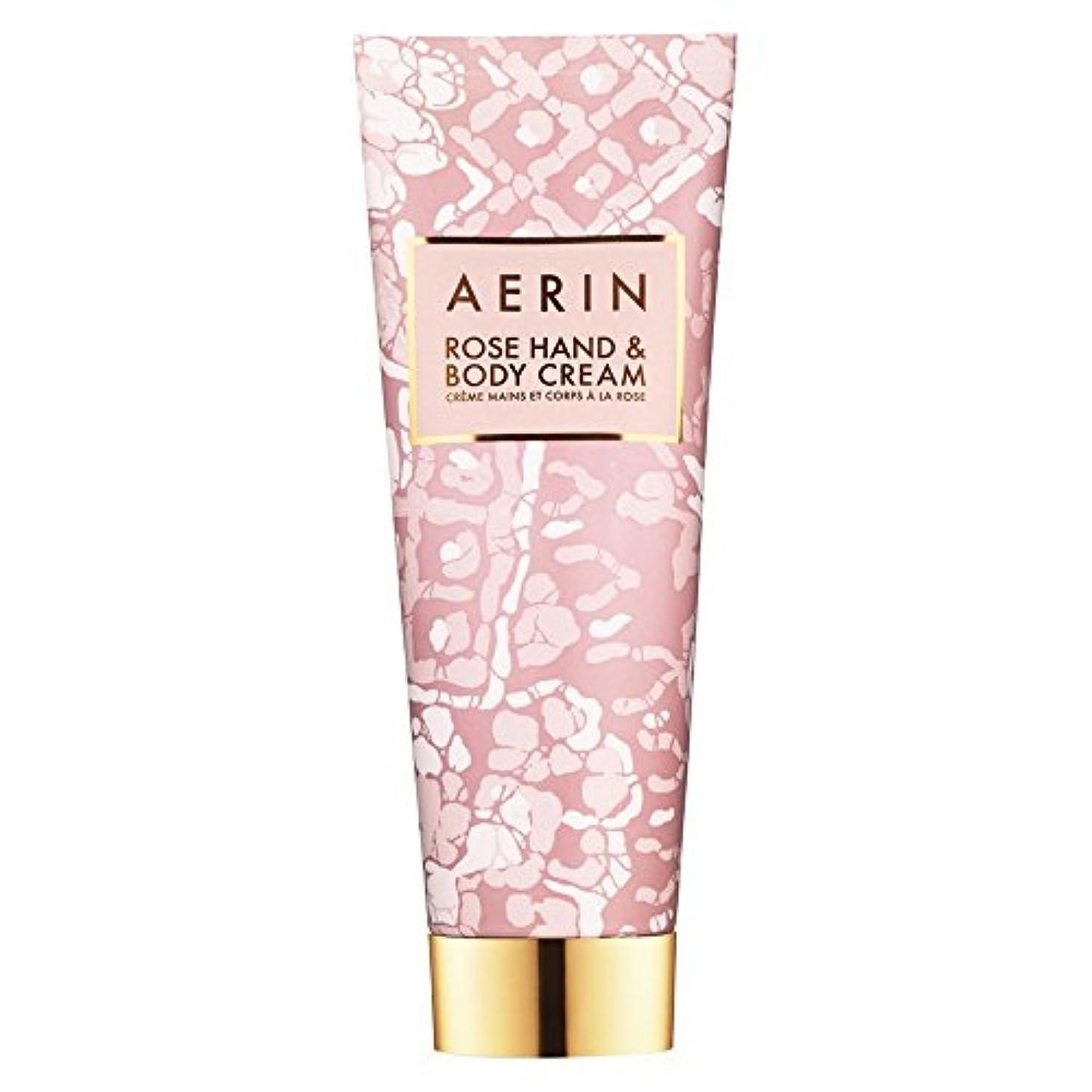 表向きたっぷり着飾るAerinはハンド&ボディクリーム125ミリリットルをバラ (AERIN) (x6) - AERIN Rose Hand & Body Cream 125ml (Pack of 6) [並行輸入品]