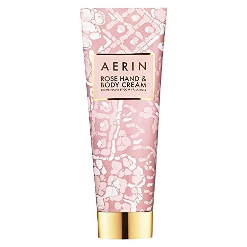 ムスタチオしゃがむかりてAerinはハンド&ボディクリーム125ミリリットルをバラ (AERIN) (x6) - AERIN Rose Hand & Body Cream 125ml (Pack of 6) [並行輸入品]