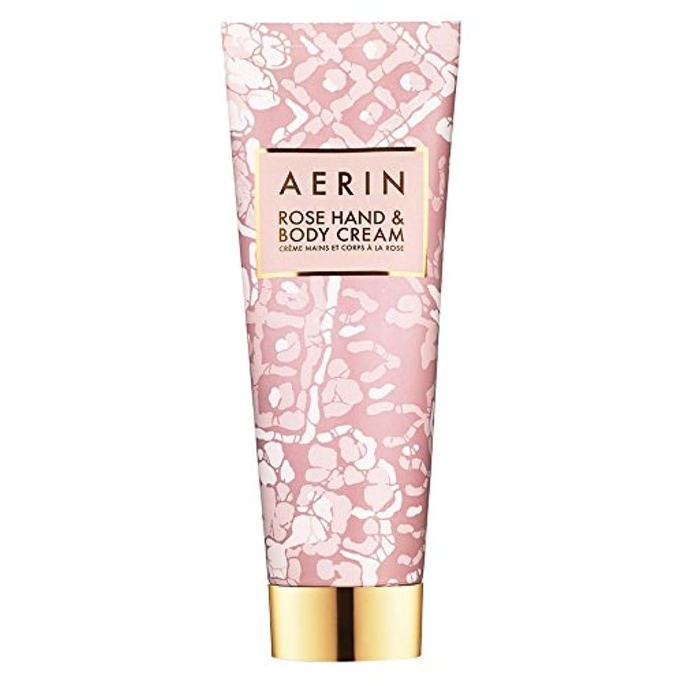 脚本土コンプリートAerinはハンド&ボディクリーム125ミリリットルをバラ (AERIN) (x6) - AERIN Rose Hand & Body Cream 125ml (Pack of 6) [並行輸入品]