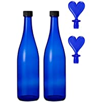 ブルーボトル 720ml(2本)+ハートストッパー(2個) ブルーソーラーウォーター ムーンウォーター