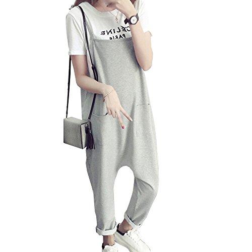 [해외](마세루) Marshel 출산 뽀빠이 바지 느긋 썩지 테빠 산전 산후 오랫동안 사용할 세련된 임신복 그레이 L/(Machel) Marshel Maternity Salopette Overalls Loose comfort Tapered Birth Presale Fashionable pregnant women`s clothing gray L
