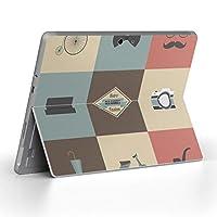 Surface go 専用スキンシール サーフェス go ノートブック ノートパソコン カバー ケース フィルム ステッカー アクセサリー 保護 ひげ めがね カメラ 010467