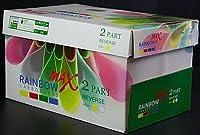1ケース2500のセットの8.5X 11Pre Collatedカーボンレス用紙–2パーツReverse–ホワイト、カナリア。