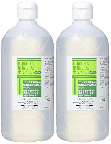 化粧用 精製水 HG 500ml×2個...