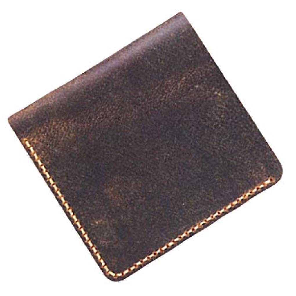 クラッチ防止小石初心者 1セット ヴィンテージ 革 財布キット ポケット レザーキット DIY 全3色 - 褐色