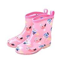 Cozy Maker(C&M)レインブーツ キッズ レインシューズ 子供用 ジュニア キッズ長靴 子供 子ども シューズ ブーツ 雨靴 雨の日 梅雨 長ぐつ ながぐつ 長靴 可愛い 雨対策 防水 撥水 防寒 雪遊び 通園 通学 (20(内長15cm), ピンク)