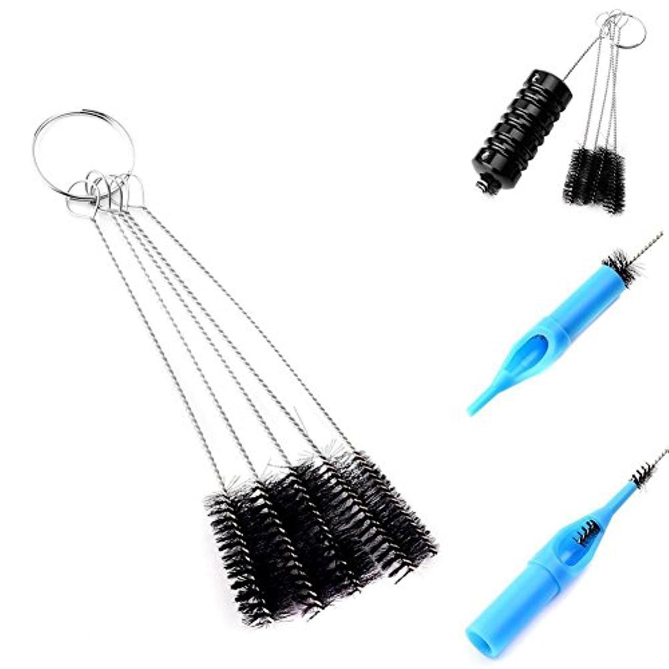 恥ハッピー絶望Demiawaking 5個 多機能ツール タトゥー機器 針ブラシ ブラシタトゥー洗浄用品