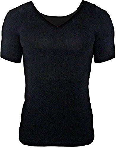 スリムゼウス 加圧インナー 次世代 加圧シャツ 姿勢矯正 猫背矯正 筋肉加圧効果 【正規品】 (M, ブラック(黒))