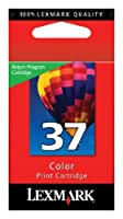 Lexmark (#37) X3500, X3600, X4600, X5650, X6650, X6675Color Return Program Ink Cartridge, Part Number 18C2140 by Lexmark [並行輸入品]