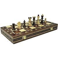 Brown Senator Wooden Chess Set - Weighted Chessmen 16 x 16' [並行輸入品]