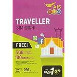 【AIS】タイ プリペイド SIM7日間 データ通信無制限 100分無料通話つき