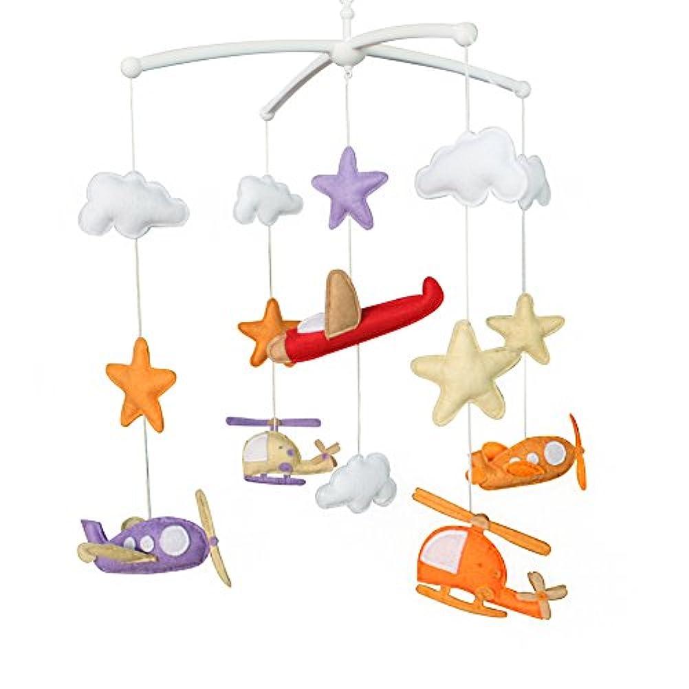 周術期隣人疲労教育玩具保育園の装飾デザイン手縫いのベビーベッドの装飾新生児ギフトミュージカルモバイルおやすみトイおやすみトイ0?1歳間(航空機)