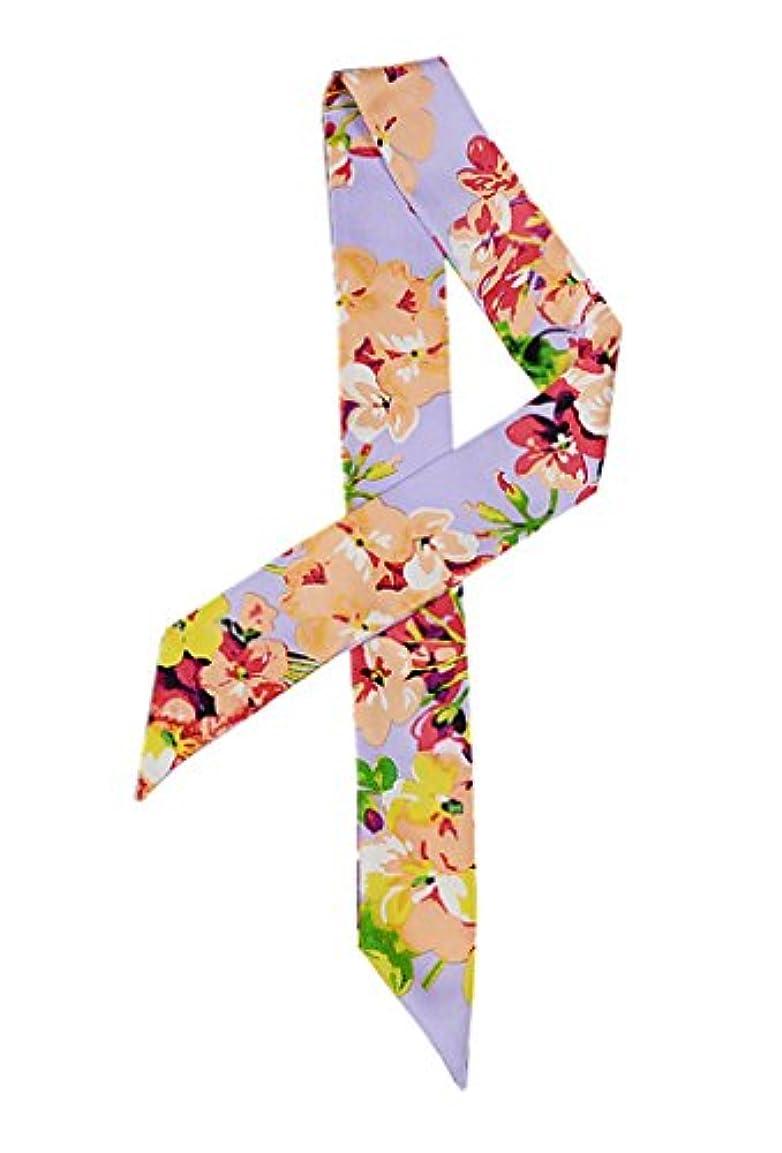 一月インタラクション司書(トヨベイ)Toyobuy バッグ用 リボン ハンドルスカーフ プリント柄 細スカーフ ツイリースカーフ 巻きつけ 持ち手 小物 アクセサリー
