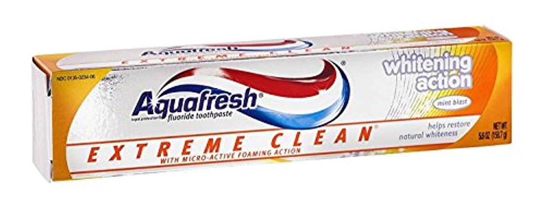 矢じり豆人気Aqua Fresh EXTMホワイト5.6サイズ5.6zアクアフレッシュエクストリームクリーンホワイトニングミント歯磨き粉