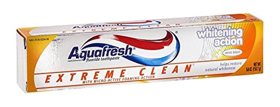 見込み国際故意のAqua Fresh EXTMホワイト5.6サイズ5.6zアクアフレッシュエクストリームクリーンホワイトニングミント歯磨き粉