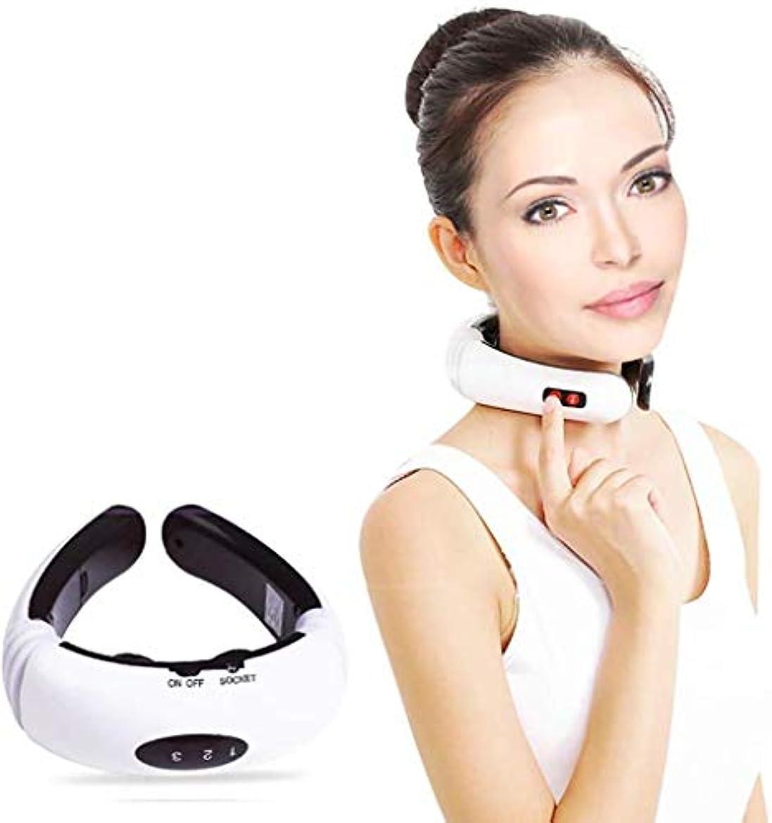 全く接続された批判的に子宮頸マッサージ器、電気パルス戻る/ネックマッサージャー、遠赤外線暖房は、/痛みを和らげる血液循環、多機能ケアツールを推進し、ストレスを緩和し、疲労を和らげます