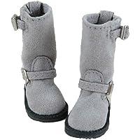 ブライス blythe ドール用 ロングブーツ 灰色 グレー momoko リカちゃん プーリップ オビツ 22cmドール 1/6ドール 靴 シューズ