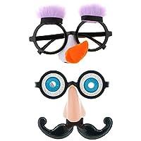 D DOLITY メガネ 鼻口ひげ 装飾 パーティー コスチューム 小道具 面白い ノベルティロングノーズのサングラス