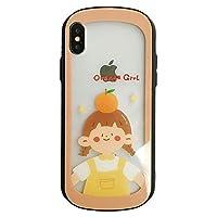 UnnFiko iPhone 6 ケース おしゃれ 楕円型 かわいい フルーツ アニメ 男女 薄型 透明 クリアケース アイフォン 6s TPU全面保護カ バー カップルに適用 (Orange Girl, iPhone 6 / 6s)
