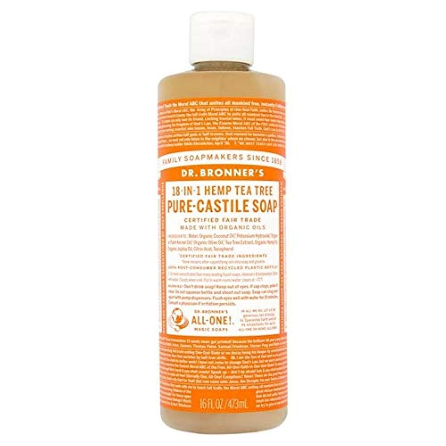 影響するまともな気をつけて[Dr Bronner] Dr。ブロナーズオーガニックティーツリー純粋-カスティーリャ液体石鹸473ミリリットル - Dr. Bronner's Organic Tea Tree Pure-Castile Liquid...