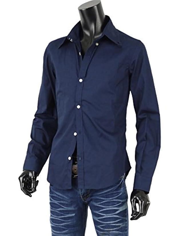 侵入フィットネス二週間メンズ ドレスシャツ 長袖 ボタンダウン シャツ キレイめ系 日本製 メンズシャツ A260731-01