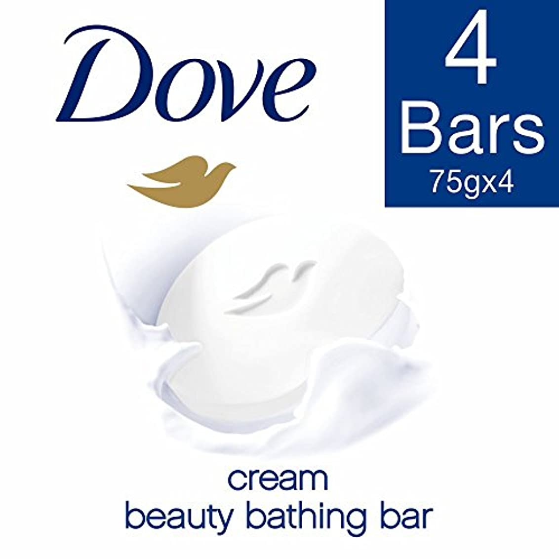 インフルエンザ拍手ペグDove Cream Beauty Bathing Bar, 3x75g