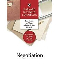 Negotiation (Harvard Business Essentials)