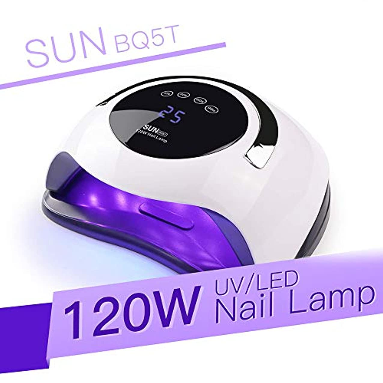 発生燃やすチャーターDecdeal ネイルドライヤー 120W UV LEDネイルランプネイルドライヤー乾燥マニキュアジェルネイルランプ乾燥ゲルワニスLCDスクリーンネイルドライヤー