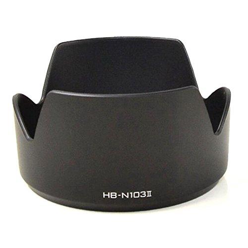 Goliton® Nikon V1 J1 V2 J2 J3 マイクロ カメラ NIKKOR 10-30mm/30-110mm レンズ 対応 ブラック HB-N103II カメラレンズフード