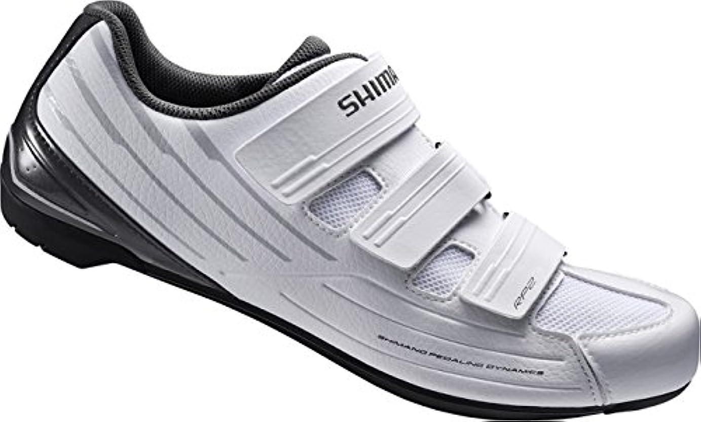 通信網へこみ学部[シマノ] ビンディングシューズ SH-RP200MW ホワイト 41(25.8cm)?46(29.2cm) メンズ SPD 靴