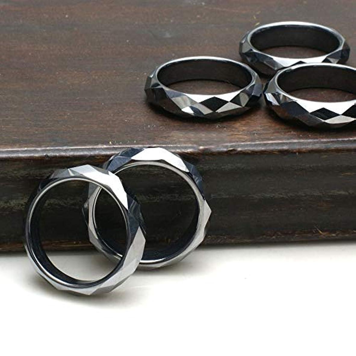 住所クラフト縞模様のOVER-9 テラヘルツ 指輪 カットリング 17号サイズ 本物保証 テラヘルツ鉱石 原石【カット17号】