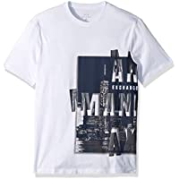 A|X Armani Exchange Men's Short Sleeve Crew Neck Large Graphic Logo T-Shirt