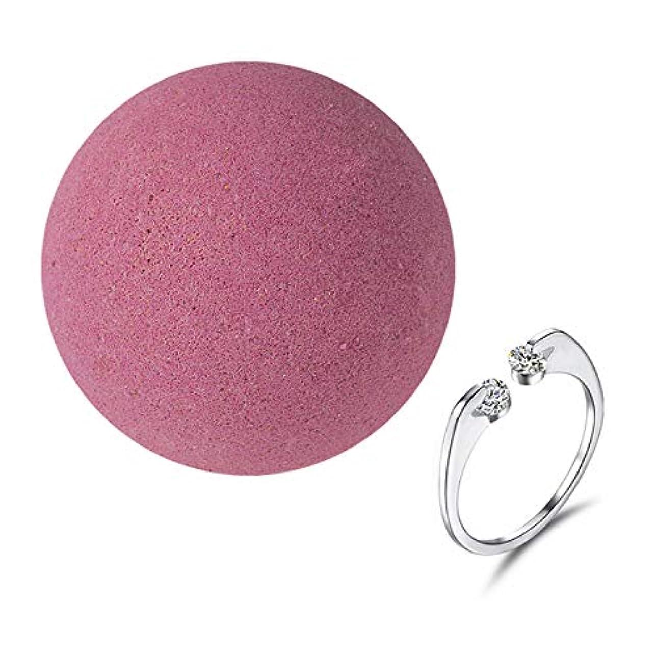 タンク年常に女性のための女性の女の子のためのリング内部とナチュラルSPAバスソルト爆弾女性の贈り物は、乾燥した肌のストレス緩和柔らかいケラチンボディリラックスピンク