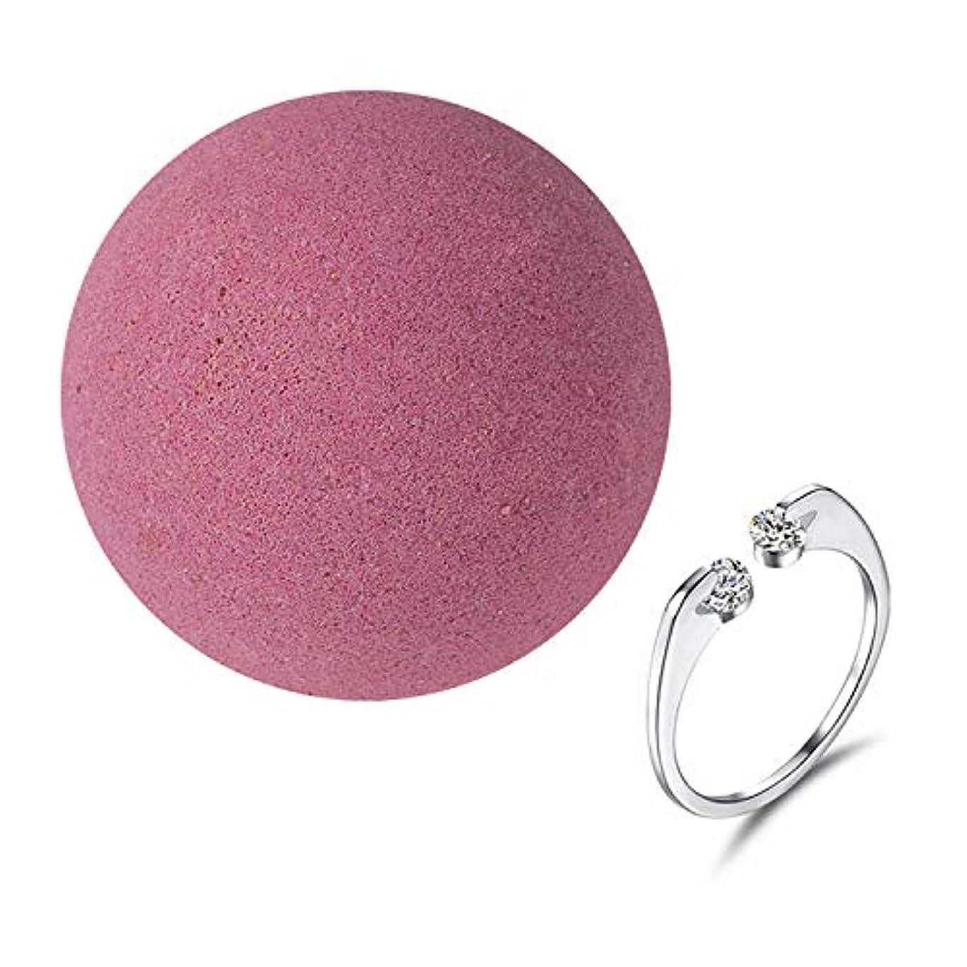 たるみ財布ミュート女性のための女性の女の子のためのリング内部とナチュラルSPAバスソルト爆弾女性の贈り物は、乾燥した肌のストレス緩和柔らかいケラチンボディリラックスピンク