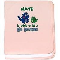 CafePress – Nate – Big Brother To Be – スーパーソフトベビー毛布、新生児おくるみ