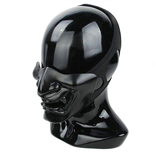 TMC サムライ マスク [ハーフ フェイスガード] フルブラック Mサイズ