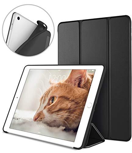 DTTO iPad Mini5 ケース 2019最新版対応/iPad Mini4兼用 超薄型 超軽量 TPU ソフト PUレザー スマートカバー 三つ折り スタンド スマートキーボード対応 キズ防止 指紋防止 [オートスリープ/スリープ解除] ダック・ブラック