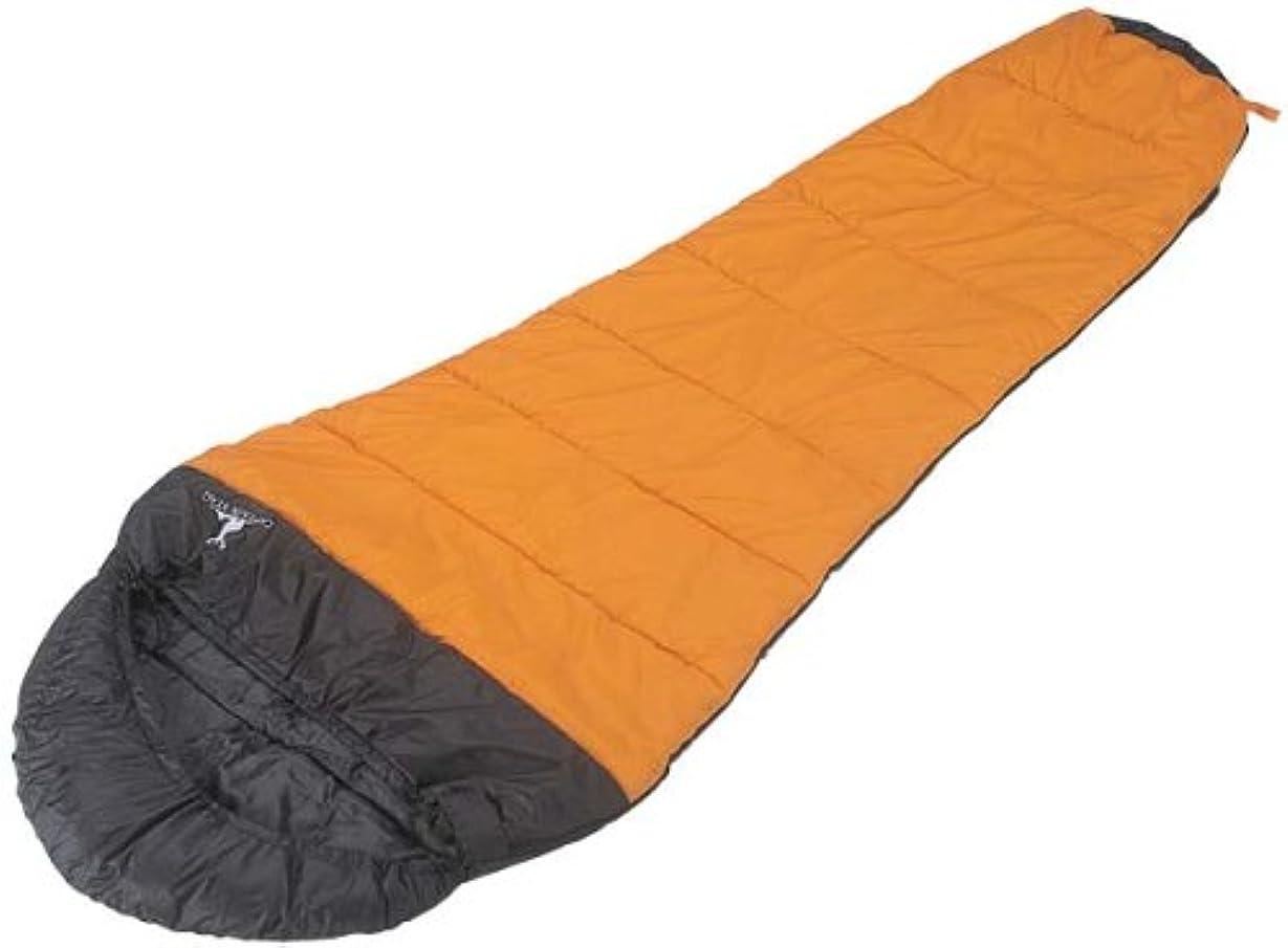 発動機変換記憶に残るキャプテンスタッグ(CAPTAIN STAG) キャンプ用品 寝袋 シュラフ アクティブ 600 オレンジ M-3439
