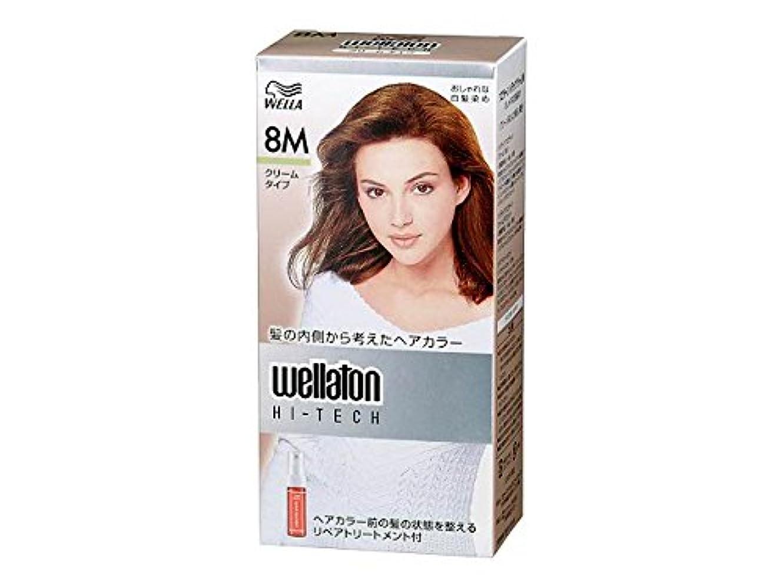 【ヘアケア】P&G ウエラトーン ハイテック クリーム 8M 内容量:45g+45g+20ml グリーン系のより明るい栗色 医薬部外品 白髪染めヘアカラー(女性用)×24点セット (4902565140503)