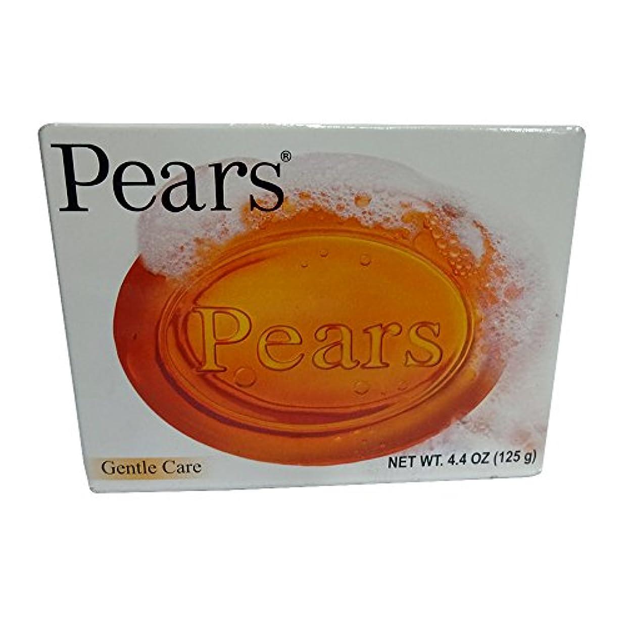 連続的柔らかい橋脚Pears ソープジェントルケア透明4.4オズ(3パック) 3パック