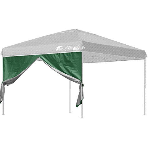 FIELDOOR タープテント 3.0m×3.0m 専用サイドシート(横幕) ウォールジップタイプ スチール製・アルミ製共通(G3モデル)