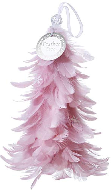 花輪生き返らせる盲目カメヤマキャンドルハウス フェザーツリー ピンク 1個