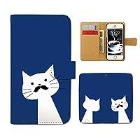 (ティアラ) Tiara GALAXY S5 ACTIVE SC-02G スマホケース 手帳型 ねこ 手帳ケース カバー 猫 ネコ ねこ 髭 メガネ F0216020071501